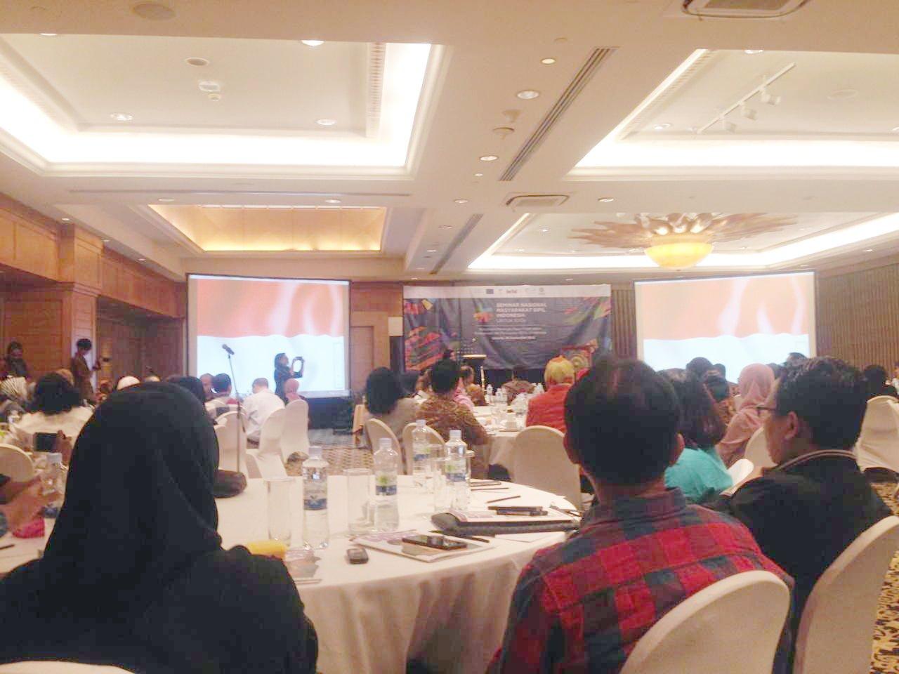 perhelatan seminar nasional masyarakat sipil Indonesia untuk SDGs 2018
