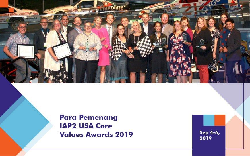 Pemenang IAP2 USA Core Values Awards 2019